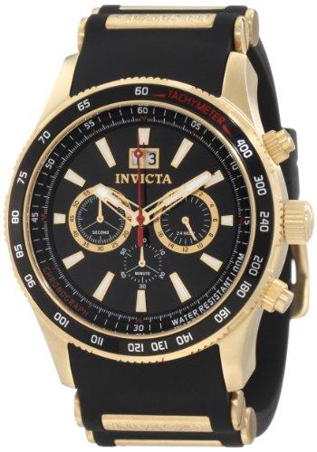 インヴィクタ インビクタ 腕時計 メンズ Invicta Men's 1236 Aviator Chronograph Black Dial Black Polyurethane Watchインヴィクタ インビクタ 腕時計 メンズ