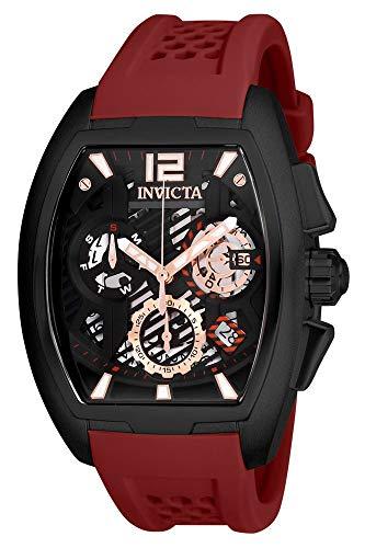 インヴィクタ インビクタ 腕時計 メンズ Invicta Men's S1 Rally Stainless Steel Quartz Watch with Silicone Strap, red, 21.8 (Model: 26888)インヴィクタ インビクタ 腕時計 メンズ