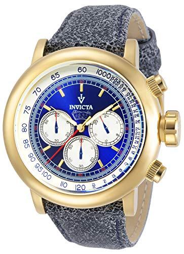 インヴィクタ インビクタ 腕時計 メンズ 【送料無料】Invicta Men's 13057 Vintage Chronograph Blue Dial Dark Blue Leather Watchインヴィクタ インビクタ 腕時計 メンズ