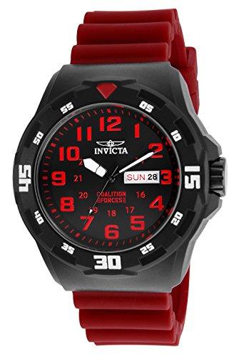 インヴィクタ インビクタ フォース 腕時計 メンズ Invicta Men's Coalition Forces Stainless Steel Quartz Watch with Silicone Strap, red, 24 (Model: 25327インヴィクタ インビクタ フォース 腕時計 メンズ