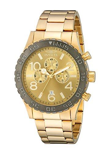 インヴィクタ インビクタ 腕時計 メンズ 【送料無料】Invicta Men's 15160 Specialty Chronograph 18k Gold Ion-Plated Stainless Steel Watchインヴィクタ インビクタ 腕時計 メンズ