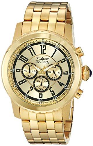 腕時計 インヴィクタ インビクタ メンズ 【送料無料】Invicta Men's 19465 Specialty 18k Gold Ion-Plated Watch腕時計 インヴィクタ インビクタ メンズ