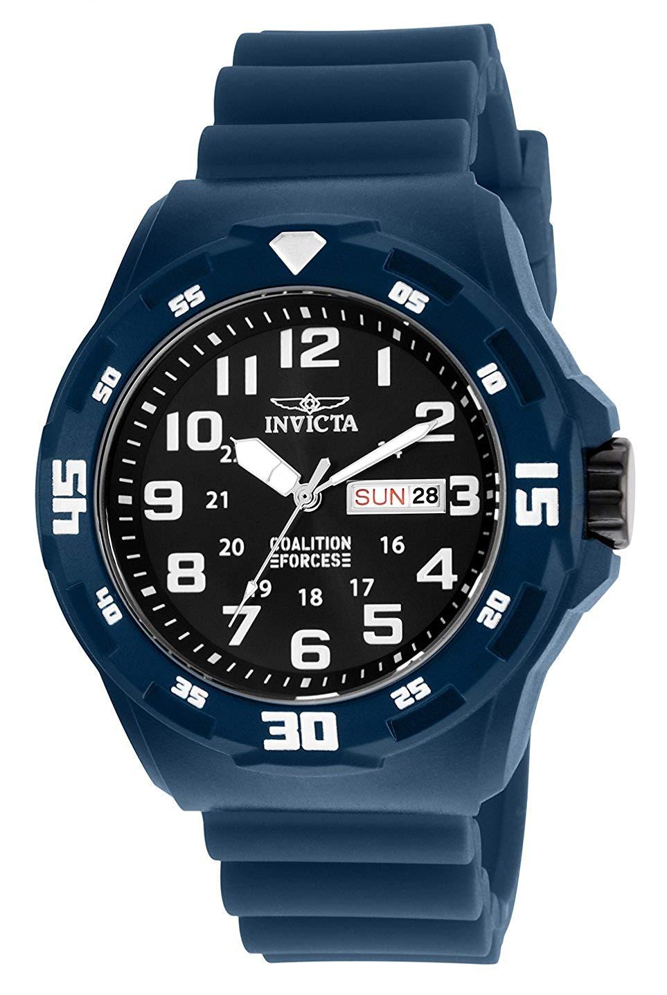 インヴィクタ インビクタ フォース 腕時計 メンズ Invicta Men's Coalition Forces Stainless Steel Quartz Watch with Silicone Strap, Blue, 18 (Model: 25324インヴィクタ インビクタ フォース 腕時計 メンズ