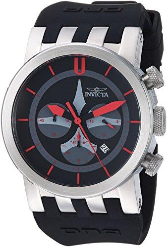 インヴィクタ インビクタ 腕時計 メンズ 【送料無料】Invicta Men's DNA Stainless Steel Quartz Watch with Silicone Strap, Black, 33.5 (Model: 25056)インヴィクタ インビクタ 腕時計 メンズ