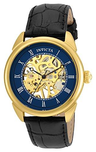 インヴィクタ インビクタ 腕時計 メンズ Invicta Men's Specialty Stainless Steel Mechanical-Hand-Wind Watch with Leather Calfskin Strap, Black, 22 (Model: 23536)インヴィクタ インビクタ 腕時計 メンズ
