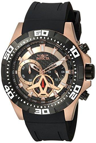 インヴィクタ インビクタ 腕時計 メンズ Invicta Men's Aviator Stainless Steel Quartz Watch with Polyurethane Strap, Black, 24 (Model: 21740)インヴィクタ インビクタ 腕時計 メンズ