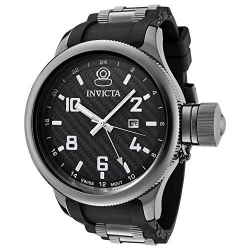 インヴィクタ インビクタ 腕時計 メンズ 【送料無料】Invicta Men's 0060 Russian Diver Collection Black Dial Black Polyurethane Watchインヴィクタ インビクタ 腕時計 メンズ