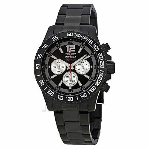 インヴィクタ インビクタ 腕時計 メンズ 【送料無料】Invicta Signature II Divers Chronograph Black Ion-plated Stainless Steel Mens Watch 7413インヴィクタ インビクタ 腕時計 メンズ