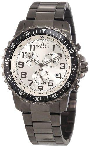 腕時計 インヴィクタ インビクタ メンズ 【送料無料】Invicta Men's 11370 Specialty Pilot Design Chronograph Silver Dial Gunmetal Stainless Steel Watch腕時計 インヴィクタ インビクタ メンズ
