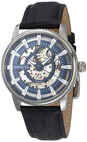 インヴィクタ インビクタ 腕時計 メンズ 【送料無料】Invicta Men's Objet d'Art Stainless Steel Automatic-self-Wind Watch with Leather Calfskin Strap, Black, 22 (Model: 22640)インヴィクタ インビクタ 腕時計 メンズ