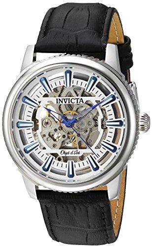 インヴィクタ インビクタ 腕時計 メンズ Invicta Men's Objet D Art Stainless Steel Automatic-self-Wind Watch with Leather-Calfskin Strap, Black, 22 (Model: 22610)インヴィクタ インビクタ 腕時計 メンズ
