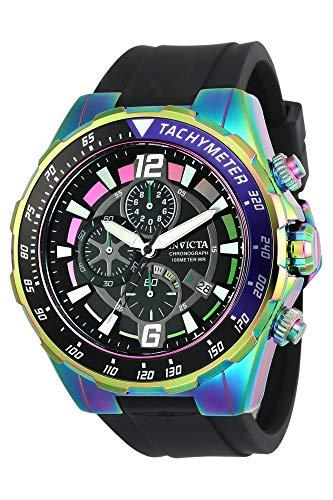 インヴィクタ インビクタ 腕時計 メンズ 【送料無料】Invicta Men's Aviator Stainless Steel Quartz Watch with Silicone Strap, Black, 26 (Model: 24579)インヴィクタ インビクタ 腕時計 メンズ