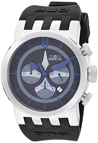 インヴィクタ インビクタ 腕時計 メンズ 【送料無料】Invicta Men's DNA Stainless Steel Quartz Watch with Silicone Strap, Black, 33.5 (Model: 25057)インヴィクタ インビクタ 腕時計 メンズ
