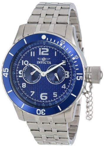 インヴィクタ インビクタ 腕時計 メンズ 【送料無料】Invicta Men's 14887 Specialty Blue Carbon Fiber Dial Stainless Steel Watchインヴィクタ インビクタ 腕時計 メンズ