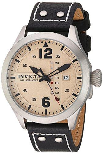 インヴィクタ インビクタ フォース 腕時計 メンズ Invicta Men's I- I-Force Stainless Steel Quartz Watch with Leather Calfskin Strap, Black, 22 (Model: 22181インヴィクタ インビクタ フォース 腕時計 メンズ