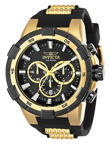 インヴィクタ インビクタ 腕時計 メンズ 【送料無料】Invicta Men's Aviator Stainless Steel Quartz Polyurethane Strap, Black, 30 Casual Watch (Model: 25135)インヴィクタ インビクタ 腕時計 メンズ