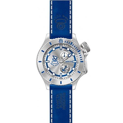 インヴィクタ インビクタ 腕時計 メンズ Invicta Men's Russian Diver Stainless Steel Swiss-Quartz Watch with Leather Calfskin Strap, Blue, 22 (Model: 22008)インヴィクタ インビクタ 腕時計 メンズ