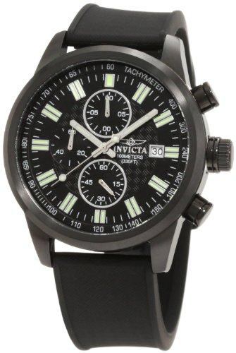 インヴィクタ インビクタ 腕時計 メンズ 【送料無料】Invicta Men's 1683 Specialty Chronograph Black Textured Dial Black Polyurethane Watchインヴィクタ インビクタ 腕時計 メンズ