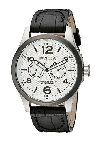 インヴィクタ インビクタ フォース 腕時計 メンズ 【送料無料】Invicta Men's 13009 I-Force Silver Textured Dial Black Leather Watchインヴィクタ インビクタ フォース 腕時計 メンズ