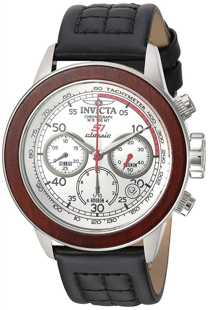 インヴィクタ インビクタ 腕時計 メンズ Invicta Men's S1 Rally Stainless Steel Quartz Watch with Leather Calfskin Strap, Black, 24 (Model: 23065)インヴィクタ インビクタ 腕時計 メンズ