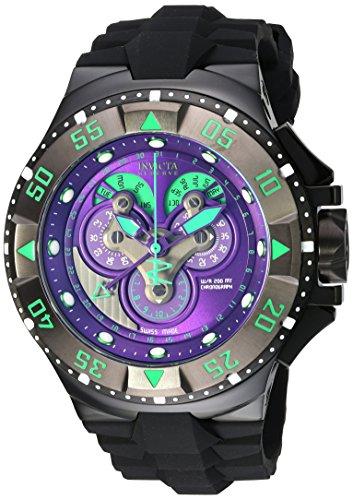 インヴィクタ インビクタ 腕時計 メンズ 【送料無料】Invicta Men's 'Excursion' Swiss Quartz Stainless Steel and Silicone Casual Watch, Color:Black (Model: 18563)インヴィクタ インビクタ 腕時計 メンズ