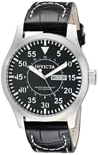 インヴィクタ インビクタ 腕時計 メンズ 【送料無料】Invicta Men's 11204 Specialty Grey Dial Grey Leather Watchインヴィクタ インビクタ 腕時計 メンズ