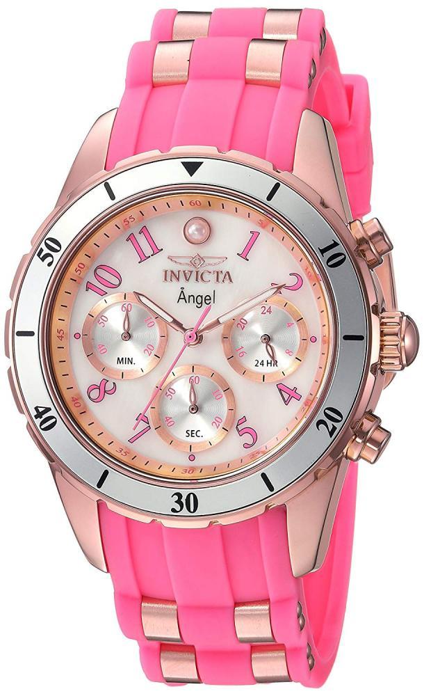インヴィクタ インビクタ エンジェル 腕時計 レディース Invicta Women's Angel Stainless Steel Quartz Watch with Silicone Strap, Pink, 20 (Model: 24900)インヴィクタ インビクタ エンジェル 腕時計 レディース