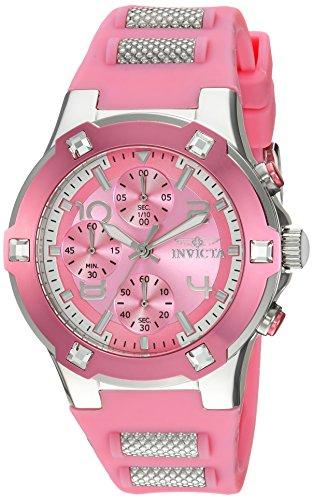 インヴィクタ インビクタ 腕時計 レディース Invicta Women's BLU Stainless Steel Quartz Watch with Silicone Strap, Pink, 22 (Model: 24197)インヴィクタ インビクタ 腕時計 レディース