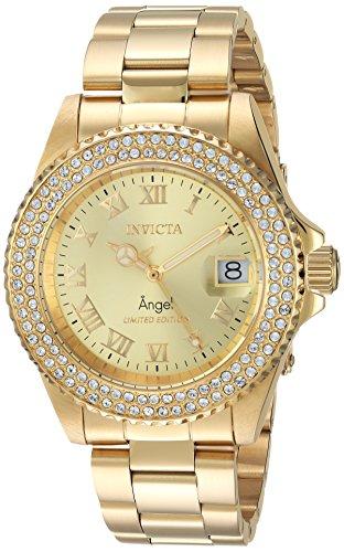 インヴィクタ インビクタ 腕時計 レディース 【送料無料】Invicta Women's Quartz Watch with Stainless-Steel Strap, Gold, 20 (Model: 24614)インヴィクタ インビクタ 腕時計 レディース