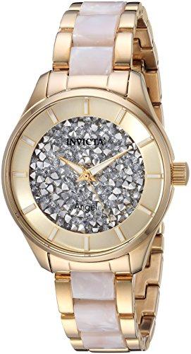 インヴィクタ インビクタ エンジェル 腕時計 レディース Invicta Women's Angel Quartz Watch with Stainless-Steel Strap, Gold, 5.7 (Model: 25245)インヴィクタ インビクタ エンジェル 腕時計 レディース