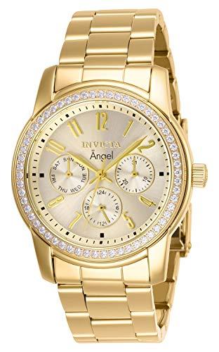 インヴィクタ インビクタ エンジェル 腕時計 レディース 【送料無料】Invicta Women's 17020 Angel Analog Display Swiss Quartz Gold Watchインヴィクタ インビクタ エンジェル 腕時計 レディース