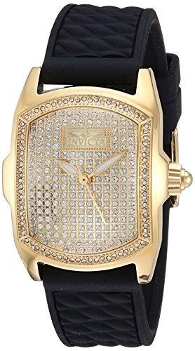 インヴィクタ インビクタ 腕時計 レディース 【送料無料】Invicta Women's Lupah Stainless Steel Quartz Watch with Silicone Strap, Black, 0.77 (Model: 23723)インヴィクタ インビクタ 腕時計 レディース