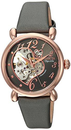 インヴィクタ インビクタ 腕時計 レディース 【送料無料】Invicta Women's Objet D Art Stainless Steel Automatic-self-Wind Watch with Satin Strap, Grey, 0.65 (Model: 22649)インヴィクタ インビクタ 腕時計 レディース