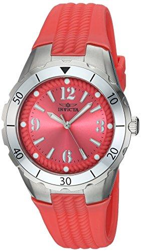 インヴィクタ インビクタ エンジェル 腕時計 レディース Invicta Women's Angel Stainless Steel Quartz Watch with Polyurethane Strap, Pink, 22 (Model: 24122)インヴィクタ インビクタ エンジェル 腕時計 レディース