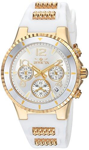 インヴィクタ インビクタ 腕時計 レディース Invicta Women's BLU Quartz Watch with Silicone Strap, White, 24 (Model: 24187)インヴィクタ インビクタ 腕時計 レディース