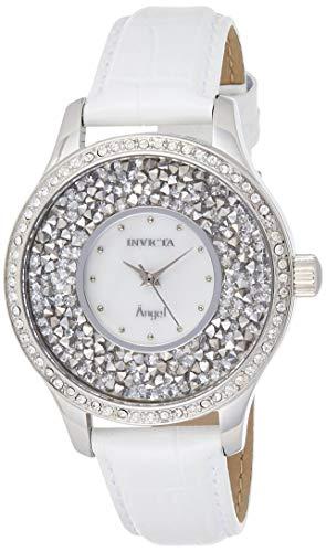 インヴィクタ インビクタ エンジェル 腕時計 レディース 【送料無料】Invicta Women's Angel Stainless Steel Quartz Watch with Leather-Calfskin Strap, White, 18 (Model: 24591)インヴィクタ インビクタ エンジェル 腕時計 レディース