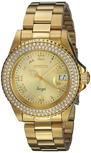 インヴィクタ インビクタ エンジェル 腕時計 レディース 【送料無料】Invicta Women's Angel Quartz Watch with Gold-Tone-Stainless-Steel Strap, 20 (Model: 19513)インヴィクタ インビクタ エンジェル 腕時計 レディース