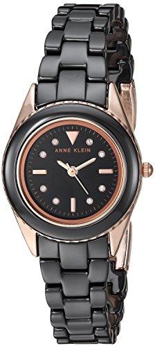 アンクライン 腕時計 レディース Anne Klein Women's AK/3164BKRG Swarovski Crystal Accented Rose Gold-Tone and Black Ceramic Bracelet Watchアンクライン 腕時計 レディース