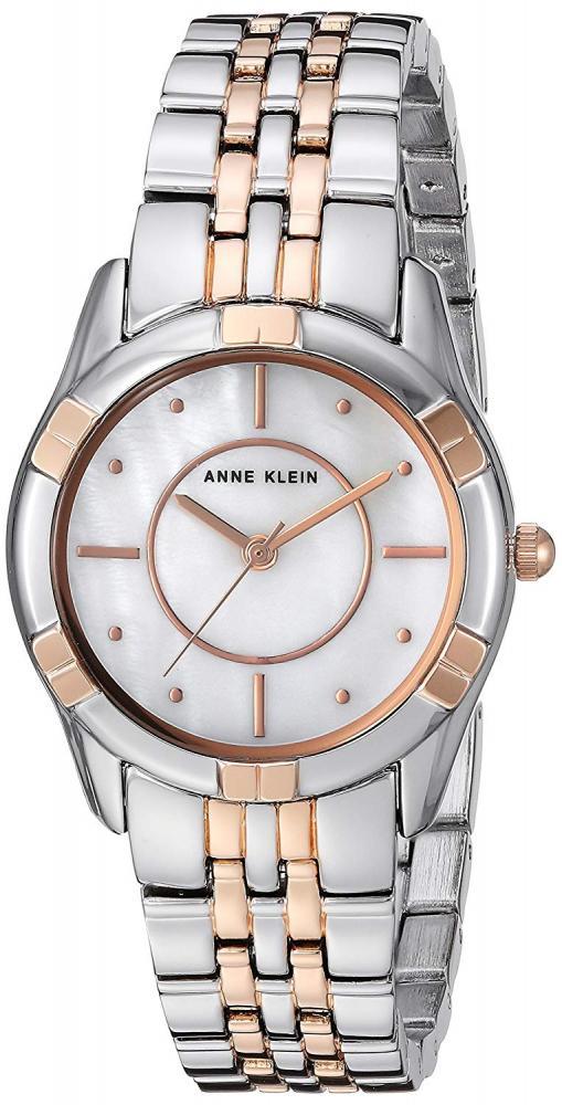 アンクライン 腕時計 レディース Anne Klein Women's Silver-Tone and Rose Gold-Tone Bracelet Watchアンクライン 腕時計 レディース