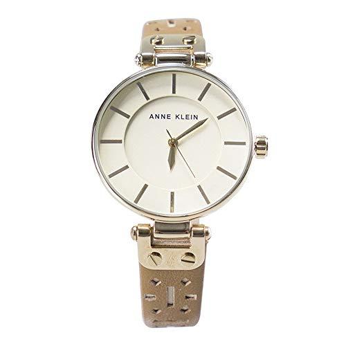 アンクライン 腕時計 レディース 【送料無料】Anne Klein Gold-Tone Leather Strap Watch AK/3050CHDTアンクライン 腕時計 レディース