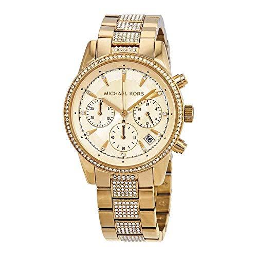 マイケルコース 腕時計 レディース 母の日特集 マイケル・コース 【送料無料】Michael Kors Women's Ritz Chronograph Gold-Tone Stainless Steel Watch MK6484マイケルコース 腕時計 レディース 母の日特集 マイケル・コース