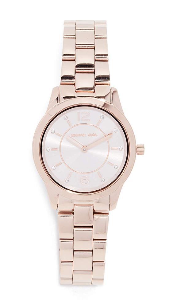 マイケルコース 腕時計 レディース 母の日特集 マイケル・コース 【送料無料】Michael Kors Women's Runway Analog-Quartz Watch with Stainless-Steel-Plated Strap, Rose Gold, 13.5 (Model: MK6マイケルコース 腕時計 レディース 母の日特集 マイケル・コース