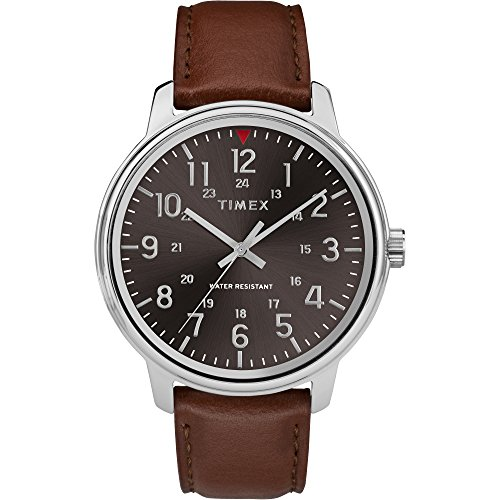 タイメックス 腕時計 メンズ 【送料無料】Timex Men's TW2R85700 Classic 43mm Tan/Black Leather Strap Watchタイメックス 腕時計 メンズ