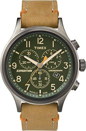 腕時計 タイメックス メンズ 【送料無料】Timex Expedition TW4B04400 Scout Chrono Men Watch, Tan/Green/Gunmetal腕時計 タイメックス メンズ