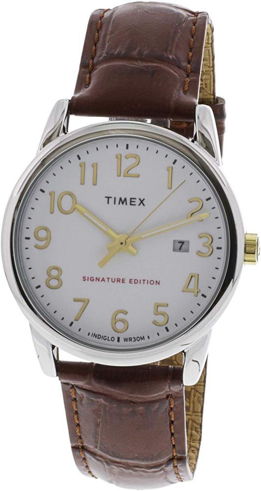 腕時計 タイメックス メンズ 【送料無料】Timex Men's Easy Reader TW2R65000 Silver Crocodile Leather Analog Quartz Fashion Watch腕時計 タイメックス メンズ
