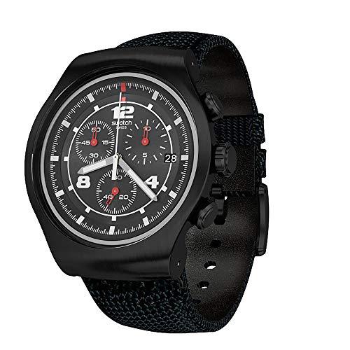 スウォッチ 腕時計 メンズ 【送料無料】Swatch Thenero Chronograph Black Dial Men's Watch YOB404スウォッチ 腕時計 メンズ