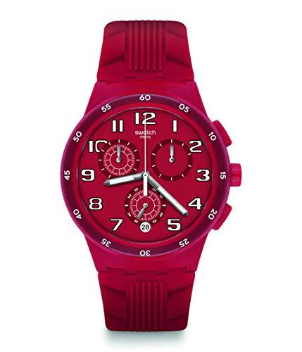 スウォッチ 腕時計 メンズ Swatch Originals Quartz Movement Red Dial Men's Watch SUSR404スウォッチ 腕時計 メンズ