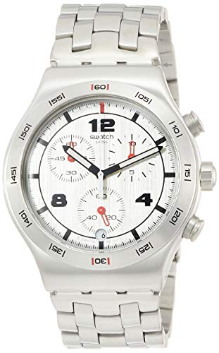 スウォッチ 腕時計 メンズ 【送料無料】Swatch Men's Silver Again YVS447G Stainless-Steel Swiss Quartz Fashion Watchスウォッチ 腕時計 メンズ