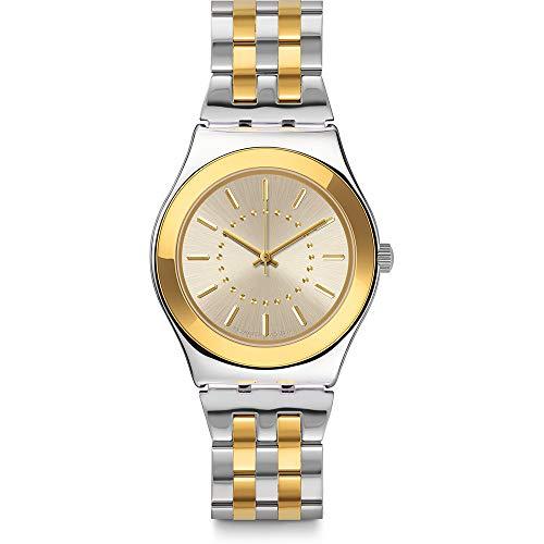 スウォッチ 腕時計 メンズ 【送料無料】Swatch Goldensilver YLS207G Silver Stainless-Steel Swiss Quartz Fashion Watchスウォッチ 腕時計 メンズ