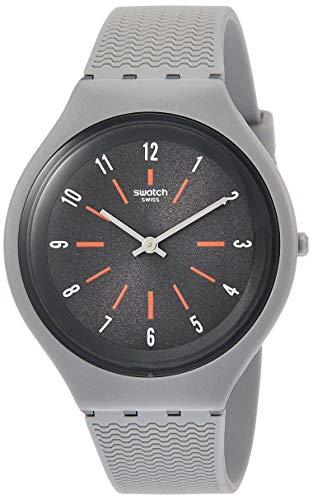 スウォッチ 腕時計 メンズ Swatch Skinshado Grey Dial Mens Watch SVUM103スウォッチ 腕時計 メンズ